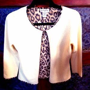 Angora Wool Silk Sweater Small